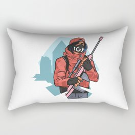 RIFLE CHARACTER Rectangular Pillow