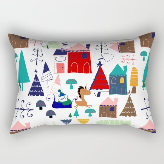Christmas unicorn Rectangular Pillow