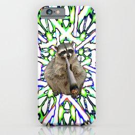 Raccoon Spliff iPhone Case