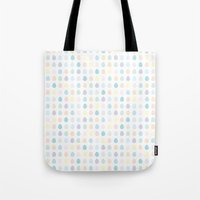 polkadot Tote Bags featuring Mini Pastel Polkadot by chelsea dawn brown