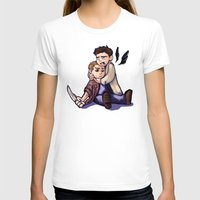 destiel T-shirts featuring He didn't take it well... by rnlaing