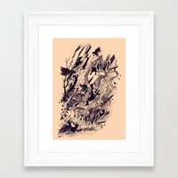 chaos Framed Art Prints featuring Chaos by nicebleed