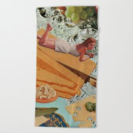 Money Can't Buy You Happiness, But It Can Buy You Cheese Beach Towel