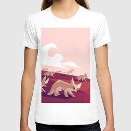 Desert foxes on the prowl T-shirt