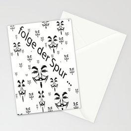 folge der Spur   (A7 B0029) Stationery Cards