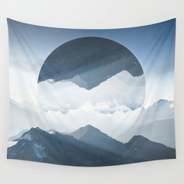 High mountain in morning time Wall Tapestry