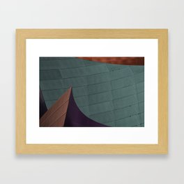 Architectural abstract of the home of the LA Philharmonic. Architect: Frank Gehry Framed Art Print