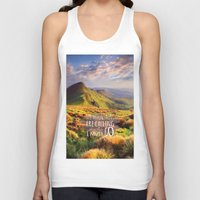 the mountains are calling Tank Tops featuring Mountains Are Calling Travel Adventure by Queen of Cases