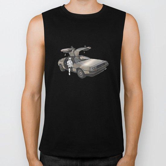 Stormtroooper in a DeLorean - star wars Biker Tank