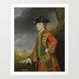 Sir Joshua Reynolds, P.R.A. PLYMPTON, DEVON 1723 - 1792   PORTRAIT OF SIR GERARD NAPIER, 6TH BT. (17 Art Print