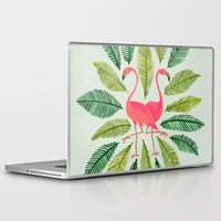 flamingos Laptop & iPad Skins featuring Flamingos by Cat Coquillette