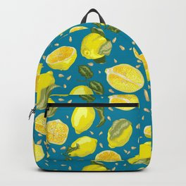 Seamless Pattern with juicy lemons Backpack