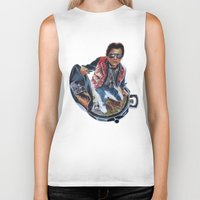 mcfly Biker Tanks featuring MARTY MCFLY by John McGlynn