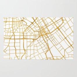 SAN JOSE CALIFORNIA CITY STREET MAP ART Rug