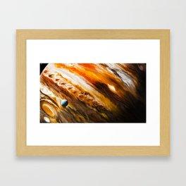 Clouds of liquid paint Framed Art Print