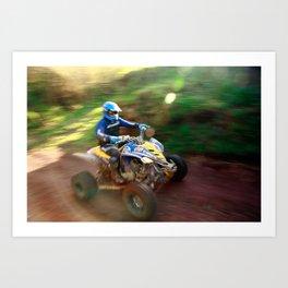 ATV offroad racing Art Print