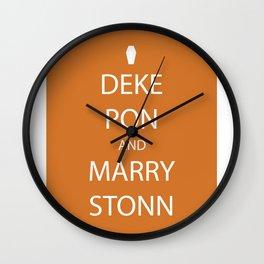 Deke Pon and Marry Stonn Wall Clock