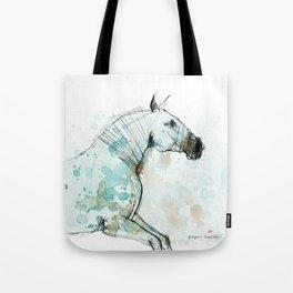 Horse (Lusitano Blue) Tote Bag