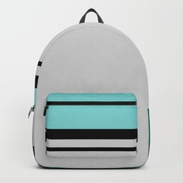 Cross Lines in turquoises Backpack