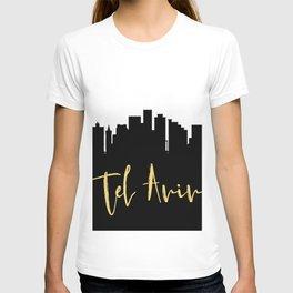 TEL AVIV ISRAEL DESIGNER SILHOUETTE SKYLINE ART T-shirt