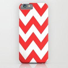 Red Chevron Lines iPhone 6s Slim Case