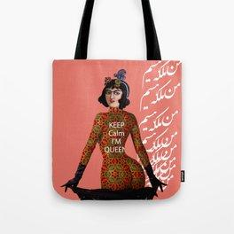 Girl With a Khaz Manteu Tote Bag