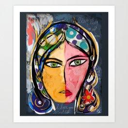 Portrait of a mystique girl Art Print