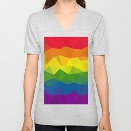 Low poly rainbow Unisex V-Neck