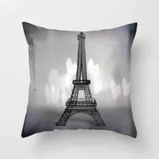 La Ville De L'amour Throw Pillow