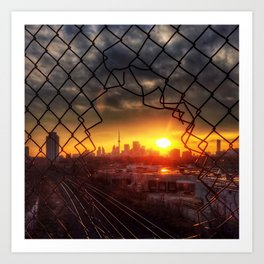 Sunset on January 30 Art Print