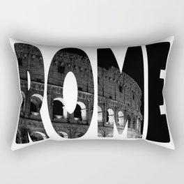 Rome - Black & White Rectangular Pillow