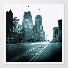 Broad Street View B&W Canvas Print