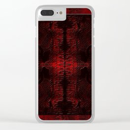 Snake Skin In Red Clear iPhone Case