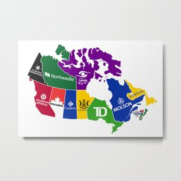 The Corporate Provinces of Canada Metal Print