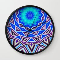 sacred geometry Wall Clocks featuring Sacred Geometry by Michael White