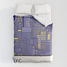 NEW YORK Card Comforters