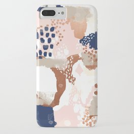 Sonia - rose gold navy copper modern abstract rosegold trendy pattern cell phone accessories iPhone Case