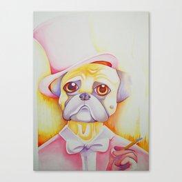 Fancy Pug Canvas Print