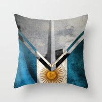 argentina Throw Pillows featuring Flags - Argentina by Ale Ibanez