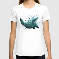 "biology T-shirts featuring ""Eclipse"" - Green Sea Turtle, Acrylic by Amber Marine"