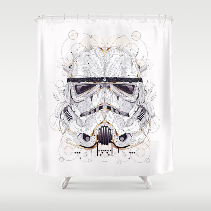 Stormtrooper Shower Curtain By Yoaz
