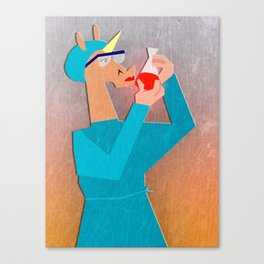Biochemist Unicorn Canvas Print