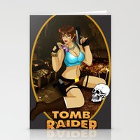 tomb raider Stationery Cards featuring Tomb Raider by Orphen5