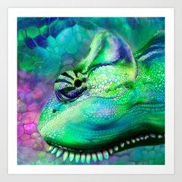 Camouflage Chameleon Art Print