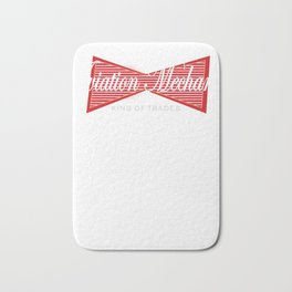 Aviation Mechanic King of Trades Airplane Bath Mat