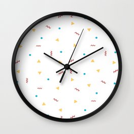 90's Shapes Pattern Wall Clock
