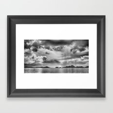 Storm Of Palawan Philippines Framed Art Print