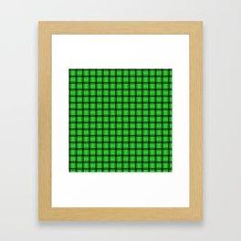Small Lime Green Weave Framed Art Print