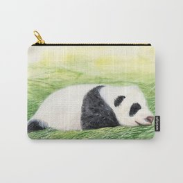 Panda Baby, Watercolor Painting by Suisai Genki Carry-All Pouch