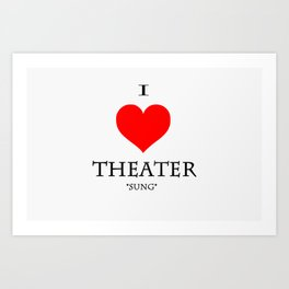 Stage Directions Art Print
